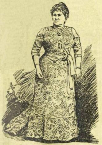 Porträt der Amalie Swobodia (Entnommen aus Illustriertes Wiener Extrablatt, Ausgabe 30. März 1902)